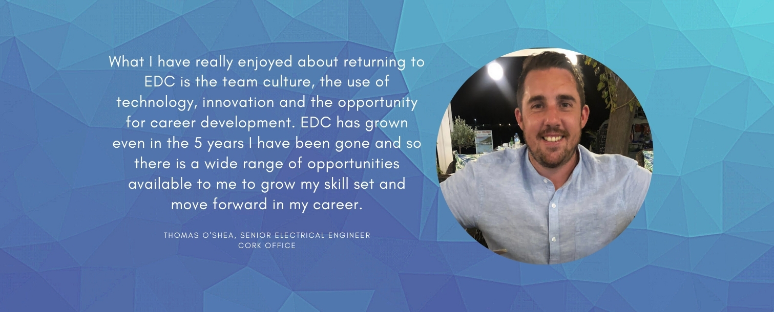 A Returners Perspective: How time away brought new insights and skills to Tom's new role with EDC.